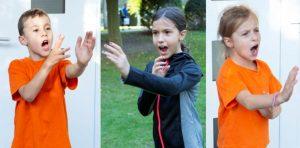 Selbstbewusste Kinder zeigen die Grenze auf